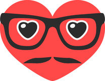 Hipster heart Royalty Free Stock Photo