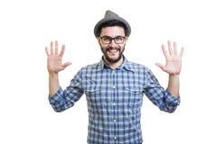 Hipster in Hoed Royalty-vrije Stock Afbeeldingen