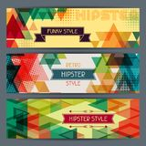 Hipster horizontal banners in retro style Stock Photo