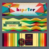 Hipster horizontal banners in retro style Royalty Free Stock Image