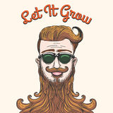 Hipster with huge beard Stock Images