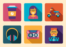 Hipster Icon Accessories Royalty Free Stock Photos