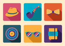 Hipster Icon Accessories Royalty Free Stock Images