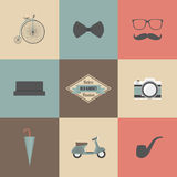 Hipster icon Royalty Free Stock Photos