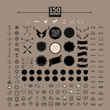 150 hipster icon, label, badge, sticker Stock Photography
