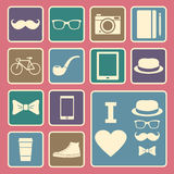 Hipster icon Stock Images