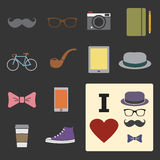 Hipster icon Stock Image