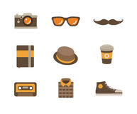 Hipster Icon Set Royalty Free Stock Images