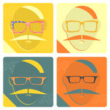 Hipster icon Stock Photography