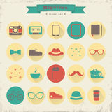 Hipster icon set. Royalty Free Stock Images