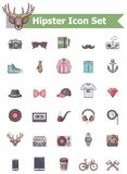 Hipster icon set Stock Images
