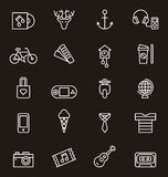Hipster icon set Royalty Free Stock Image