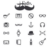 Hipster icons. Collection set. sign and symbol Royalty Free Stock Photography
