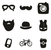 Hipster Icons Freehand Fill Royalty Free Stock Photos