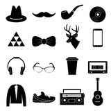Hipster icons set Royalty Free Stock Image