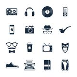 Hipster Icons Set Royalty Free Stock Photos
