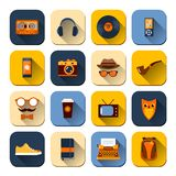 Hipster Icons Set Stock Photos