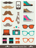 Hipster Icons Stock Photos