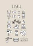 Hipster icons in simple design Royalty Free Stock Photo