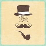 Hipster illustration with hipster elements Royalty Free Stock Photo