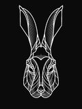 Hipster illustration of rabbit's head Stock Image