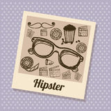 Hipster illustration Stock Photos