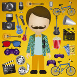 Hipster illustration Stock Photo