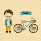 Hipster illustration Stock Image