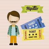 Hipster illustration Royalty Free Stock Image
