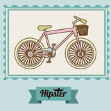 Hipster illustration Stock Photography