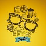 Hipster illustration Stock Photos