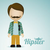 Hipster illustration Royalty Free Stock Photography