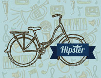Hipster illustration Royalty Free Stock Images