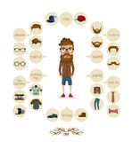 Hipster info graphic hipster elements Stock Images