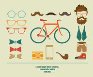 Hipster info graphic hipster elements Royalty Free Stock Photo