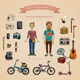 Hipster infographic concept Stock Photos