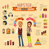 Hipster Infographic Set Royalty Free Stock Photography
