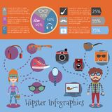 Hipster infographic set Stock Image