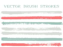 Hipster ink brush strokes design elements. Hipster ink brush strokes isolated design elements. Set of paint lines. Advertising Ink brushe stripes isolated on royalty free illustration