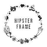 Hipster ink frame. Perfect for posters, greeting cards and invitations. Royalty Free Stock Image