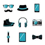 Hipster items collection Stock Photos