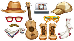 Hipster items Stock Images