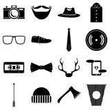 Hipster items icons set, simple style Stock Photos