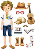 Hipster and items Royalty Free Stock Photo