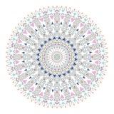 In hipster kleurde cirkel, helder filosofisch symbool, cirkelelementen die godsdienstig zijn, Royalty-vrije Stock Foto