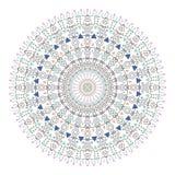 In hipster kleurde cirkel, helder filosofisch symbool, cirkelelementen die godsdienstig zijn, Stock Afbeelding