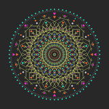 In hipster kleurde cirkel, helder filosofisch symbool, cirkelelementen die godsdienstig zijn, Royalty-vrije Stock Afbeelding