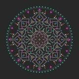 In hipster kleurde cirkel, helder filosofisch symbool, cirkelelementen die godsdienstig zijn, royalty-vrije illustratie