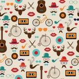 Hipster Kleurrijk Retro Uitstekend Vector Naadloos Patroon royalty-vrije illustratie