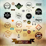 Hipster Label and Badge Icon Vector Design Stock Image